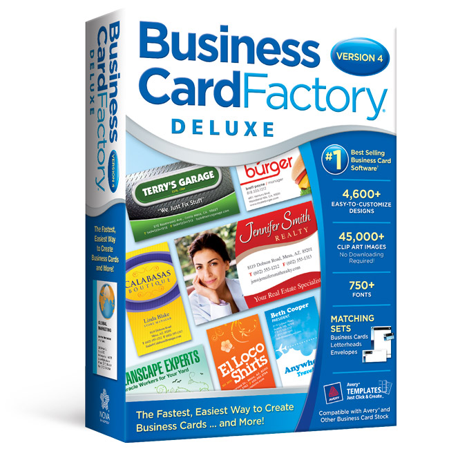 Business card factory deluxe software for business cards business card factorysupsup colourmoves