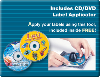 Includes CD/DVD Label Applicator