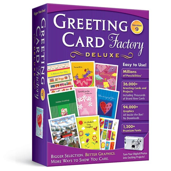 Buy animated e greeting cards - Greeting Card Factory Deluxe 9