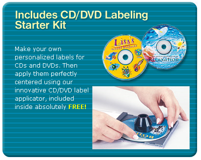 ncludes CD/DVD Labeling Starter Kit