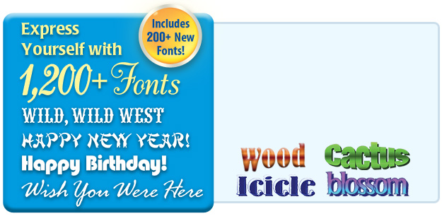 Greeting card factory deluxe 11 upgrade greeting card software 1200 premium fonts text effects back to the top m4hsunfo