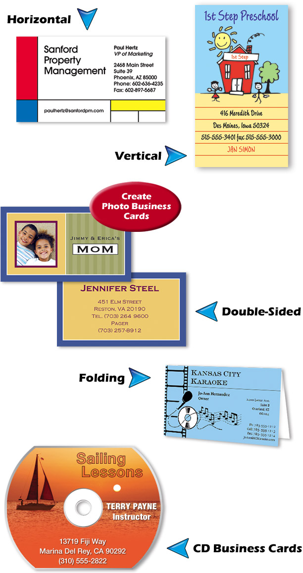 Business card factory deluxe software for business cards cards for virtually every profession reheart Gallery
