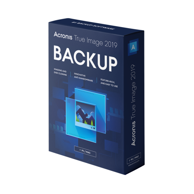 Acronis True Image 2019 Advanced 1 year/500GB Cloud