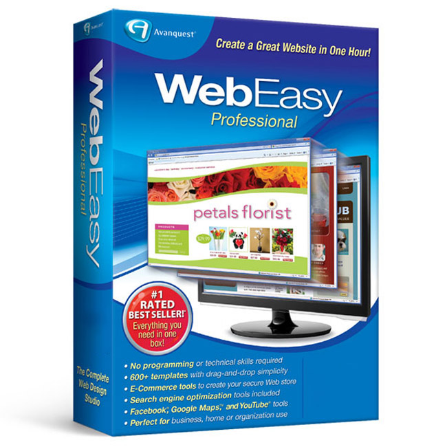 WebEasy Professional 10 | Website Creation Software | Avanquest